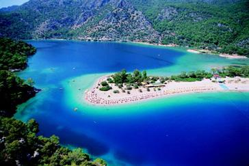 Oludeniz Beach and tourquoise waters