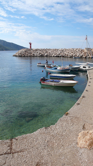 Entrance to Kalkan harbour
