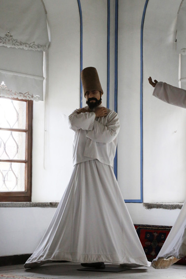 Whirling dervish at Mevlana Museum