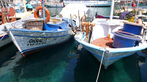 Fishing boats in Kas harbour