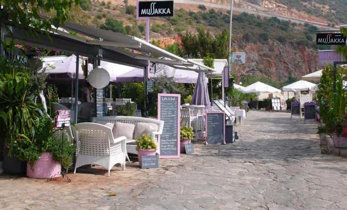 Sophisticated restaurants at Kalkan harbour front