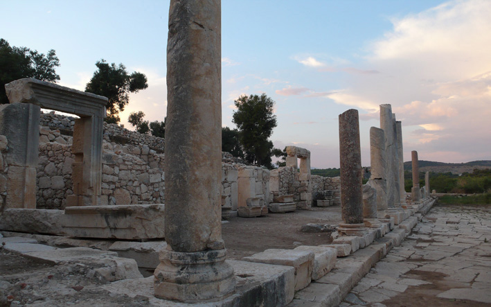 Patara ruins at sunset